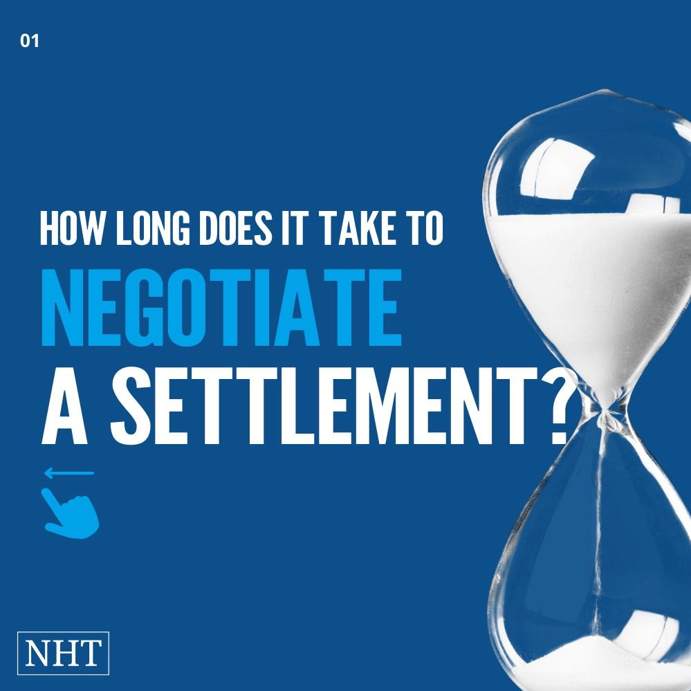 Timelines for Neogitating a Settlement