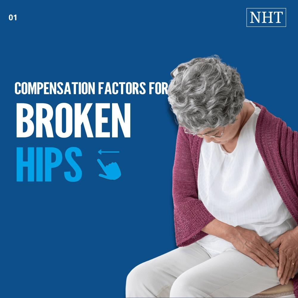 average compensation for broken hip