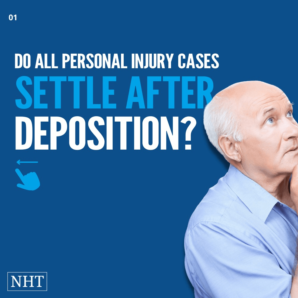How long after a deposition is a settlement ?