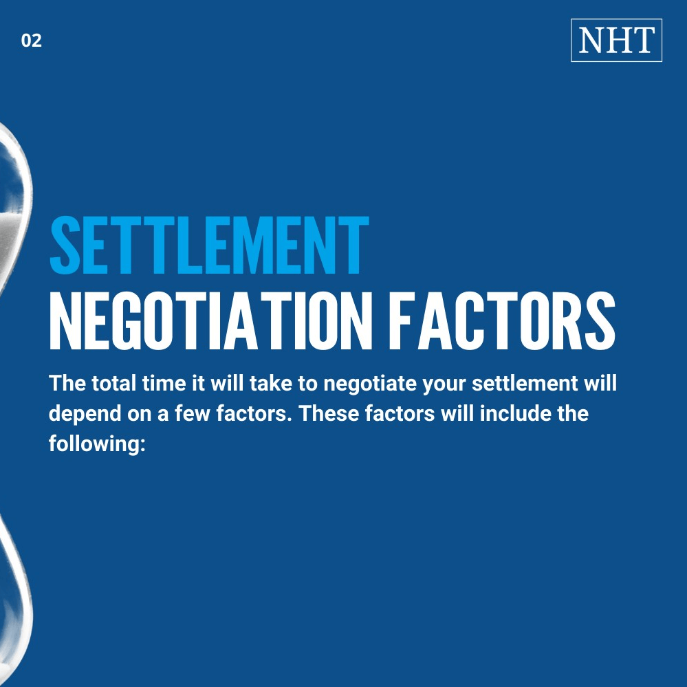 Settlement negotiation timeline factors