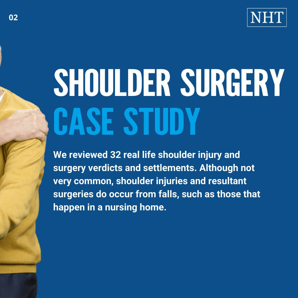 Average settlement for shoulder surgery with results from 4 states