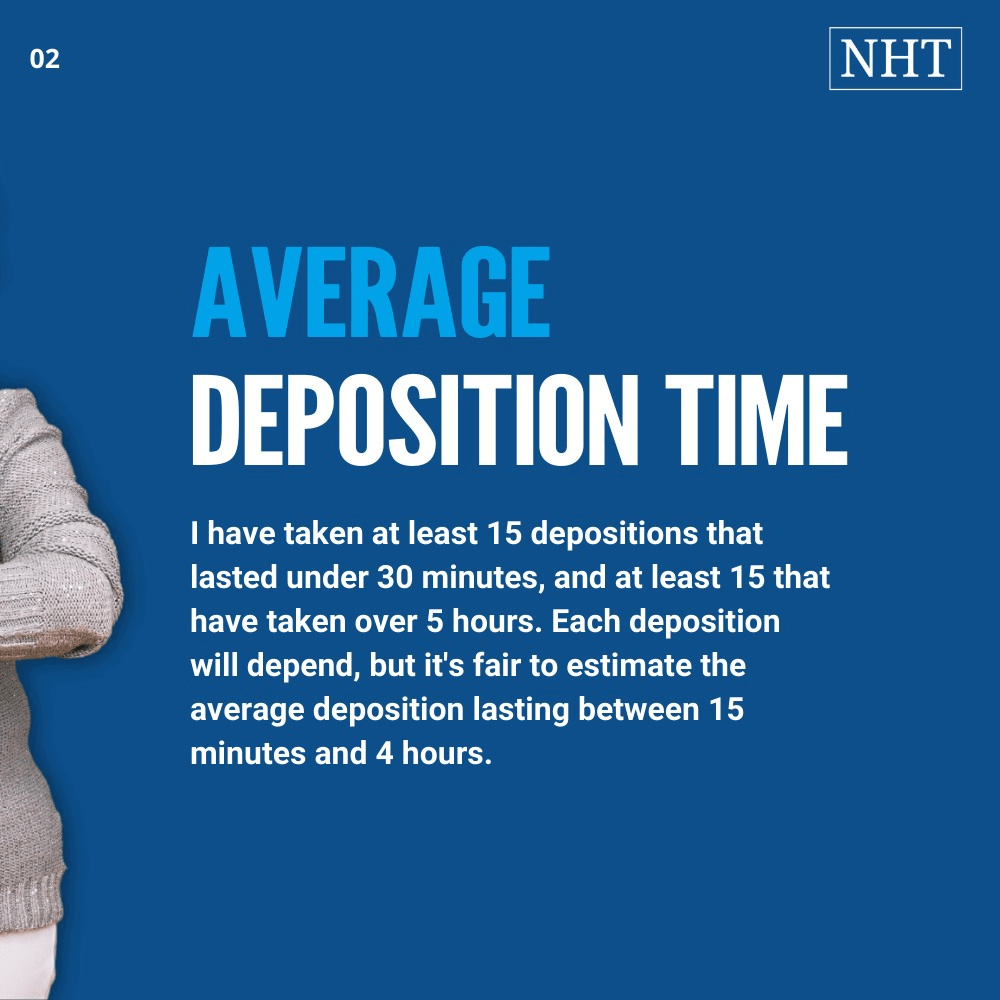 How long a deposition lasts depends on certain factors