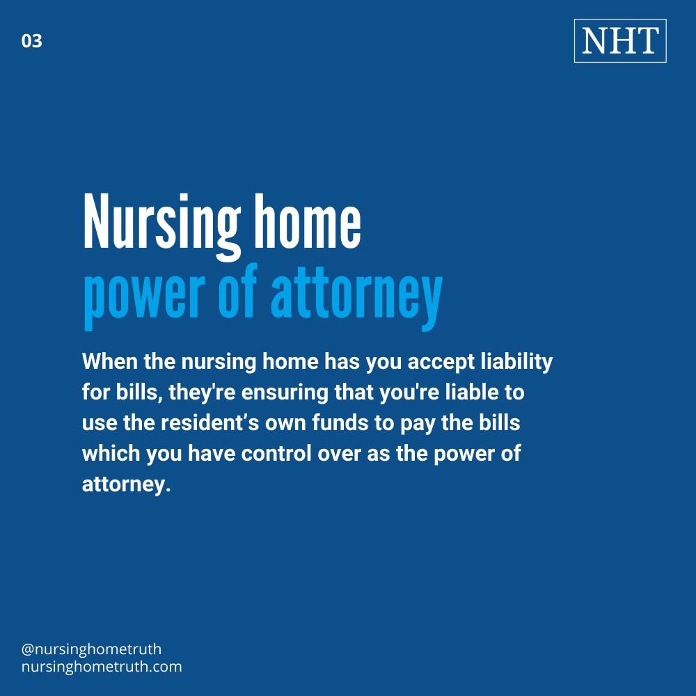 POA liability for nursing home bills