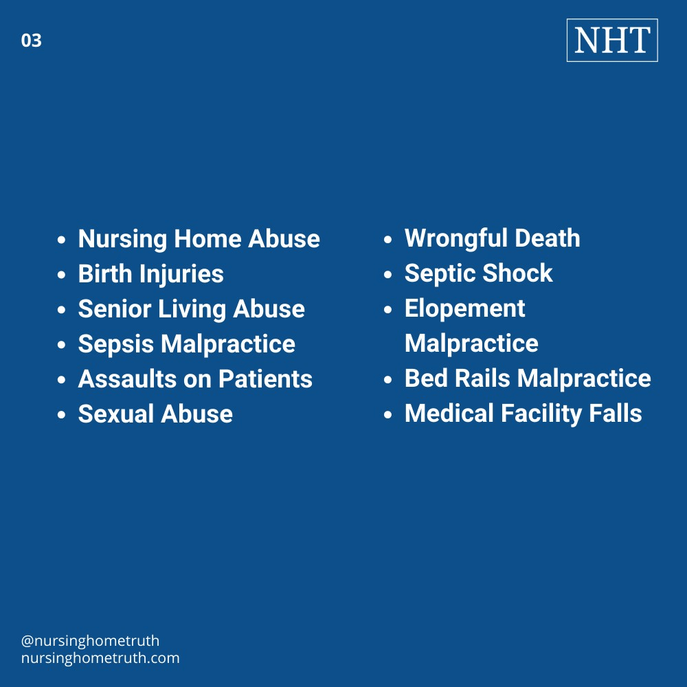 Medical malpractice lawyers in Maryland for different nursing home abuse cases