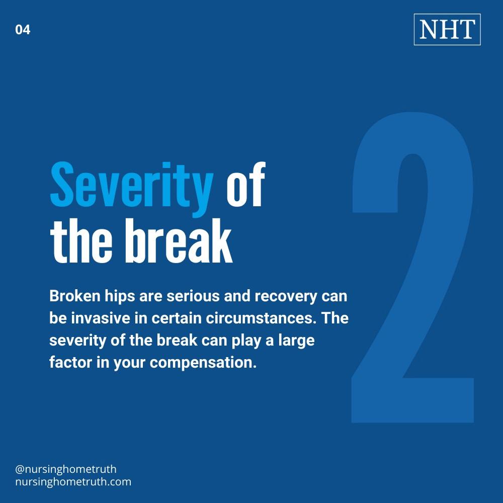 broken hip compensation payout sample