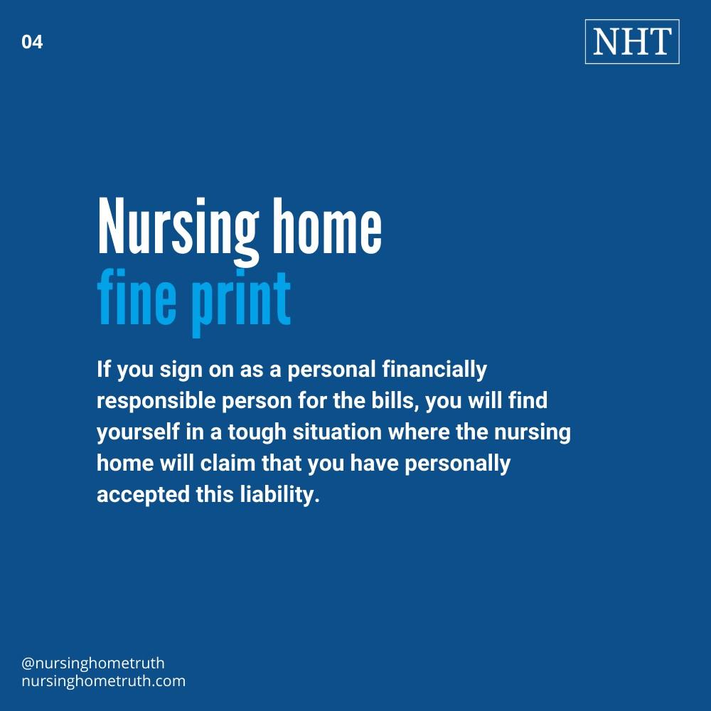 POA should read fine print for nursing home bills