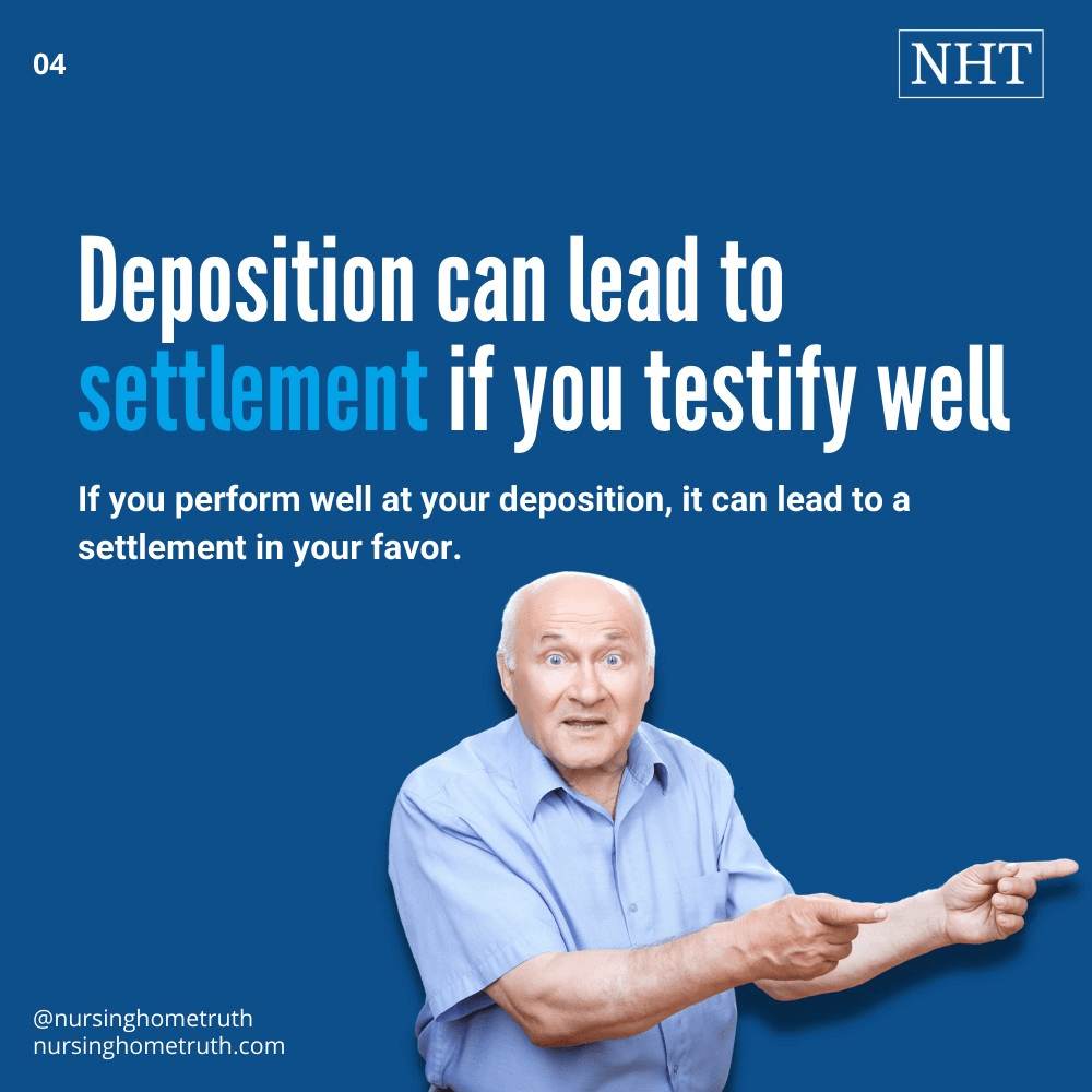Settlement is not long after a deposition if you testify well