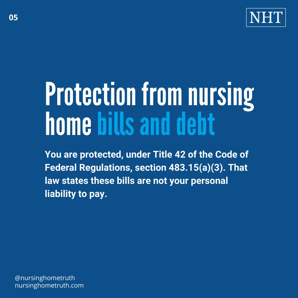 How to protect POA from responsibility to pay nursing home bills