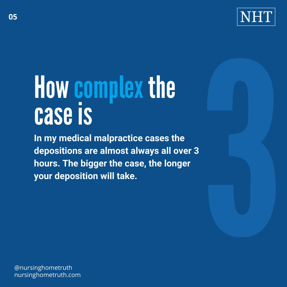 how long depositions last varies based on case complexity